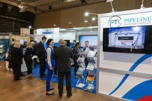 ptc 2018 - Pipeline Transport Institute (PTI LLC) stand in the exhibition hall (© 2018 Philip Wilson)