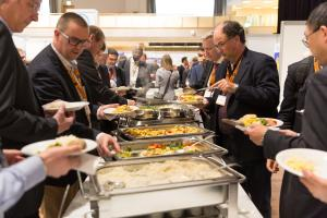 ptc 2018 - Buffet in the exhibition hall (© 2018 Philip Wilson)