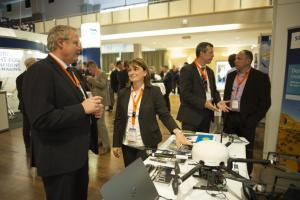ptc 2016 - Pipeline Monitoring Drone on Display at the Exhibition (© 2016 Jens Jeske)